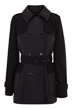 MELTON CONTRAST QUILTED COAT.