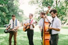 Acoustic music works great outdoors for your ceremony, cocktail hour, or reception.  ❤  Inn at Westwood Farm: A lovely B&B in Orange, Virginia — your home in the country & the perfect venue for your wedding ceremony, reception, rehearsal dinner or event!  ❤  See our Pinterest boards: http://www.pinterest.com/elizabethgoeke/ for wedding inspiration & our inn, barn, and grounds in all seasons, or visit www.innatwestwoodfarm.com  ❤  #innatwestwoodfarm #barnweddings #rusticweddings…
