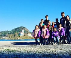 Slovenia Lake Bled Sullivan family pic from 6 Days And 6 Countries With 10 Kids: A Round-Up Of Our Travels This Week
