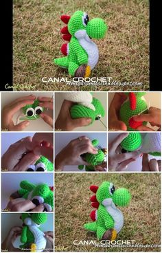 Here's the link to the tutorial >> How to Make Crochet Yoshi Amigurumi << by CANAL CROCHET…