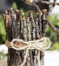 Rustic Twig Votive Holder