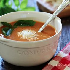 Crock Pot Creamy Tomato Soup with a grilled cheese - yes please!