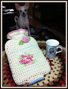 She's a Hottie! free pattern  Hot Water Bottle Cover & Insulator  Pattern written by: Pammy Sue of Scotty's Place
