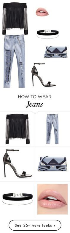 """""""jeans"""" by sarah9999 on Polyvore featuring Alice + Olivia, Miss Selfridge and Karl Lagerfeld"""