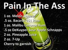 pain in the ass alcohol recipes Delicious St Patricks Day Cocktails for a Crowd St Patrick's Day Cocktails, Cocktail Drinks, Cocktail Original, Fun Look, Alcholic Drinks, Liquor Drinks, Bourbon Drinks, Alcohol Drink Recipes, Holiday Drinks