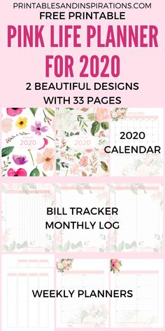 Your Free 2020 Pink Life Planner Printable Is Here! – Printables and Inspirations Your Free 2020 Pink Life Planner Printable Is Here! – Printables and Inspirations A5 Planner Printables Free, Free Planner, Planner Template, Weekly Planner, Binder Planner, 2015 Planner, Family Planner, Diary Planner, Blog Planner