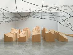 Water Line and Blue Lake Pass - Maya Lin Installation view PaceWildenstein, New York