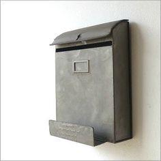 郵便ポスト 壁掛け おしゃれ アンティーク 郵便受け レトロ シャビーなブリキのポスト