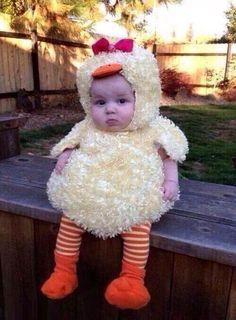 Y que tal esta hermosura! Baby Chick Kid #halloween #bebes #disfraces