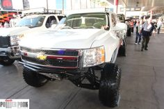 Lifted Chevy pre-runner at SEMA 2011