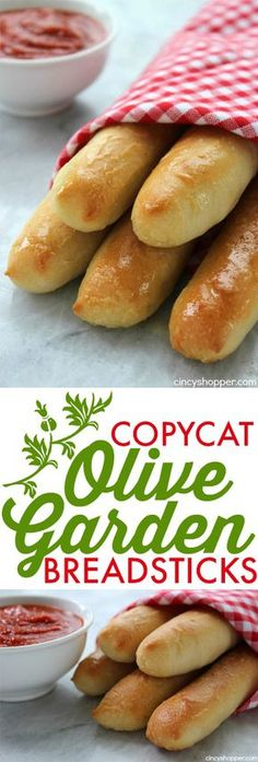 Copycat Olive Garden Breadsticks Make your favorite breadsticks right at home Perfect side for just about any meal Easy and saves s Olive Garden Breadsticks, Olive Garden Recipes, Vegan Olive Garden, Olive Garden Appetizers, Copycat Olive Garden Soup, Olive Garden Soups, Olive Garden Salad, Bread Machine Recipes, Bread And Pastries