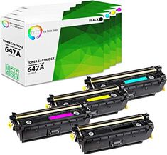 4 Pack TCT Compatible HP 647A 648A Replacement Toner Cartridge  Replaces OEM: CE260A / CE261A / CE262A / CE263A  Box Contains: 1 Black, 1 Cyan, 1 Magenta, 1 Yellow toner cartridges  Printer Compatibility: HP Color LaserJet CP4520 CP4025 CP4025N CP4025DN CP4525N CP4525DN CP4525XH  TCT: Print Quality Beyond Your Expectations! With TCT premium toner cartridges, you can enjoy the full benefits of high quality printing and exponential savings.