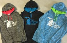 New colors in our Michigan Fresh Coast performance hoodie! Livnfresh.com