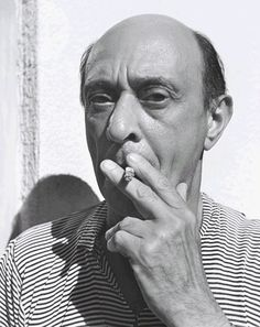 Arnold Schoenberg (1874-1951) -  Austrian composer and painter, associated with the expressionist movement in German poetry and art, and leader of the Second Viennese School. Photo John Gutmann, 1935