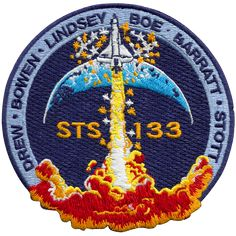 """NASA STS 133 Official Logo Sticker 4/"""" great for laptop skateboard decal"""