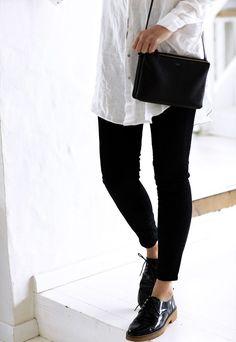 Blanc et noir #oxfordoutfit