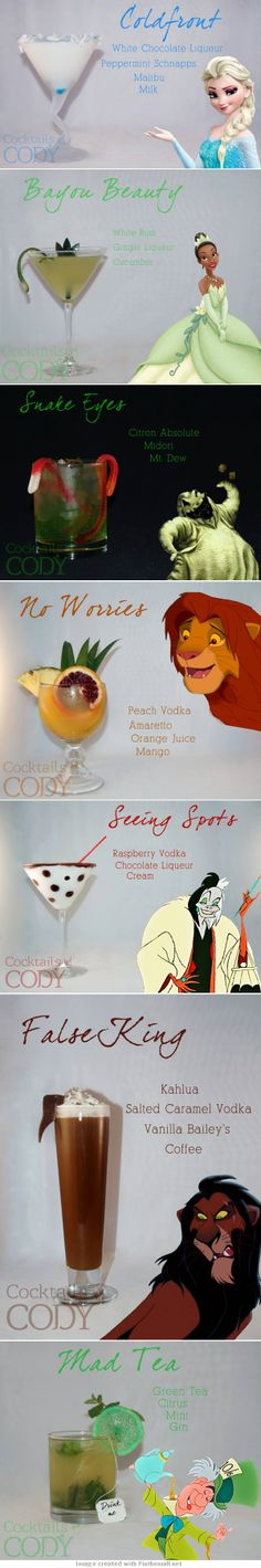 It's Never Too Early to Start the Weekend With Disney-Inspired Cocktails - created via http://pinthemall.net