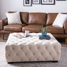 Enhance your home and living décor with the uniquely styled Juliette button-tufted ottoman. Soft and durable velvet fabric covers this unique piece of furniture, bringing comfort and warmth to any setting.