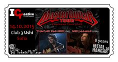 Master Guitar Tour - Flamenco metal in Sofia on 14th of October 2015 The guitar players Ben Woods​ and Thomas Zwijsen​ will perform an acoustic concert in Sofia on the 14th of October 2015 at Club 3 Ushi.  The quantity of the tickets is limited!  Get your tickets online at eTicketsMall.com! Faster, safer, easier. https://www.eticketsmall.com/product_info.php?products_id=512