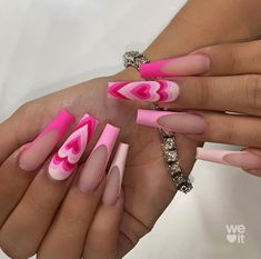 Long Square Acrylic Nails, Acrylic Nails Coffin Short, Pink Acrylic Nails, Drip Nails, Glow Nails, Maquillage On Fleek, Milky Nails, Acylic Nails, French Tip Nails