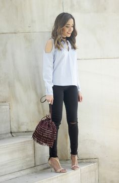 Off The Shoulder Shirt | BeSugarandSpice - Fashion Blog