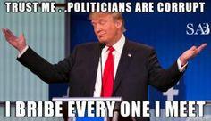 Funniest Donald Trump Memes: Donald Trump on Corrupt Politicians