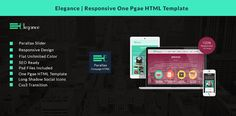 Elegance - Responsive One Page HTML Template
