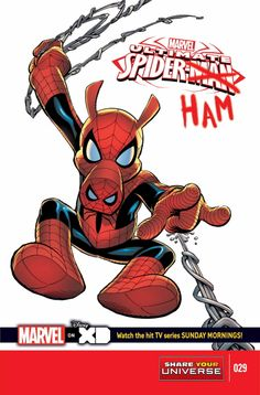 MARVEL UNIVERSE ULTIMATE SPIDER-MAN #29 Adapted by Joe Caramagna • Loki puts a hex on Spidey, turning him into a pig! Enter: Peter Porker! • Can Thor our Friendly Neighborhood Spider-Ham survive an Asgardian boar hunt? 32 PGS./All Ages …$2.99