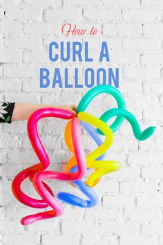 Learn to make quirky balloons on the blog today! #craft #diy #party