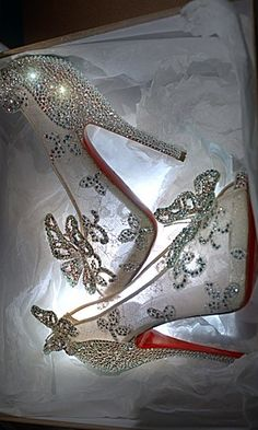 Cinderella shoes by Christian Louboutin