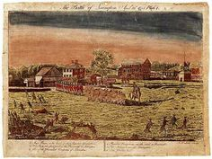 "Battle of Lexington - a sketch that was painted to record the battle at Lexington.  This is one of the four ""Doolittle Prints"" which comprise the record of the battles of Lexington and Concord. I have a set of these which are among my most treasured possessions!"