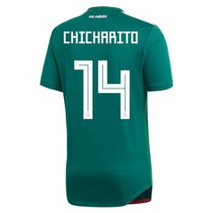 6a2bf0752 adidas Javier Chicharito Hernandez Mexico Authentic Home Jersey 2018