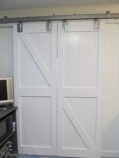 DIY Faux Barn Doors- poss closet doors?!