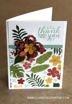 Stampin Up On Stage / Occasions Catalogue 2016 sneak peeks. Botanical Gardens product suite. Claire Day Australia.