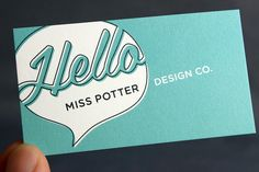 Adorable business card design!
