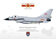 CHINESE PEOPLE'S LIBERATION NAVAL AIR FORCE . 中国人民解放军海军航空兵海军航空兵4师 4th Naval Aviation Division, 10thAir Regiment. Feidong
