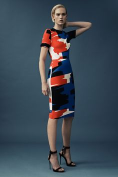 Mugler, pre-spring/summer 2015 fashion collection... LOVE the color block