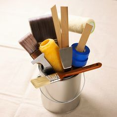 Use the Right Equipment:Choose brushes with long and dense bristles -- nylon for latex (water-base) paint and natural for oil-base paint. A 2-inch angled sash brush, a 3-inch trim brush, and rollers are enough for most jobs. For rough or textured surfaces, get a roller with a 3/8-inch or thicker nap; for smooth surfaces, use a roller with a nap of 1/4 to 3/8 inch.