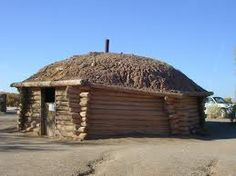 A hogan is the home for Navajo families on the reservation in Arizona.