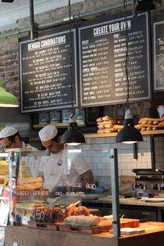 Maddy and summer shops sandwich bar, restaurant design, menu Sandwich Bar, Burger Bar, Roast Beef Sandwich, Sandwich Shops, Cafe Bar, Cafe Restaurant, Cafe Shop, Bakery Cafe, Restaurant Design