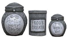 Nightmare Before Christmas jars