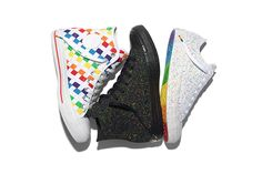 These colorful Converse rainbow sneakers have arrived just in time for this year's Gay Pride festivals.