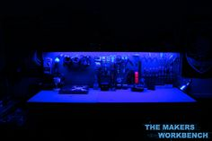 LED light strip under work bench. Led Light Projects, Led Projects, Under Shelf Lighting, Strip Lighting, Billionaire Life, What Is Seo, Seo Techniques, Led Diy, Led Light Strips