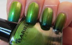 Sponged gradient using Barielle Polished Princess and Sky's the Limit. #nails