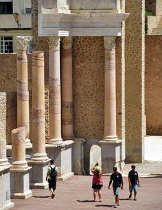 Teatro romano de Cartagena en Murcia Murcia, Alicante, Archaeology, Valencia, History, Spain, Cartagena, Ruins, Romans