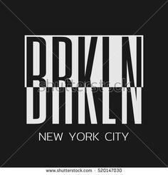 Vector illustration on a theme of New York City, Brooklyn. Typography, t-shirt graphics, poster, banner, print, flyer, postcard