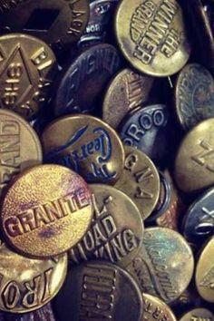 Denim buttons