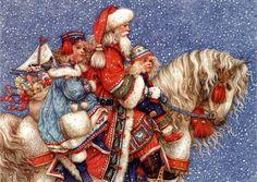 Santa On Horse-Yvonne Gilbert