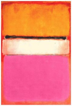 """ArtG087. Mark Rothko """"White Center (yellow pink and lavender on rose)"""" / Oil on canvas / 55,5 x 81 inches / 1950"""