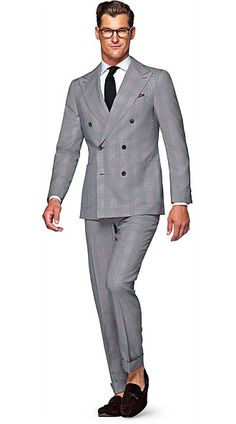 Double Breasted Light Grey Wool Suit | Suits | Pinterest | Wool ...